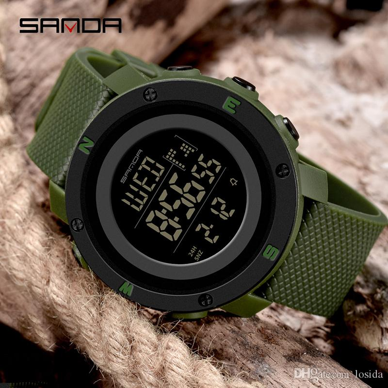 366cec7fabb 2019 SANDA Fashion Sports Men S Watch S Shock Countdown LED Military  Digital Watches Waterproof Clock For Men Wholesale Relogio Masculino Watches  Deal ...