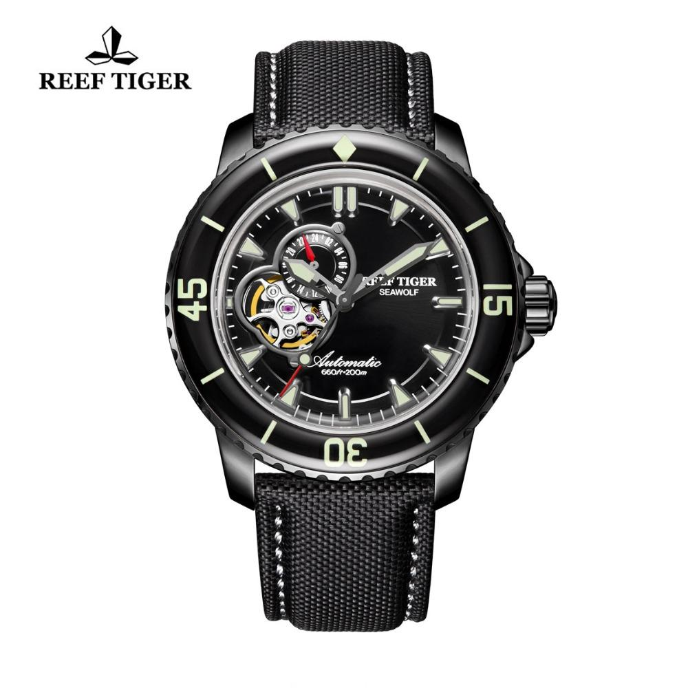 Watches Mechanical Watches Novel 3d Curved Glass Watches For Men Cool Blue Fashion Dress Watch Self Winding Mechanical Wristwatch Waterproof Leather Montre