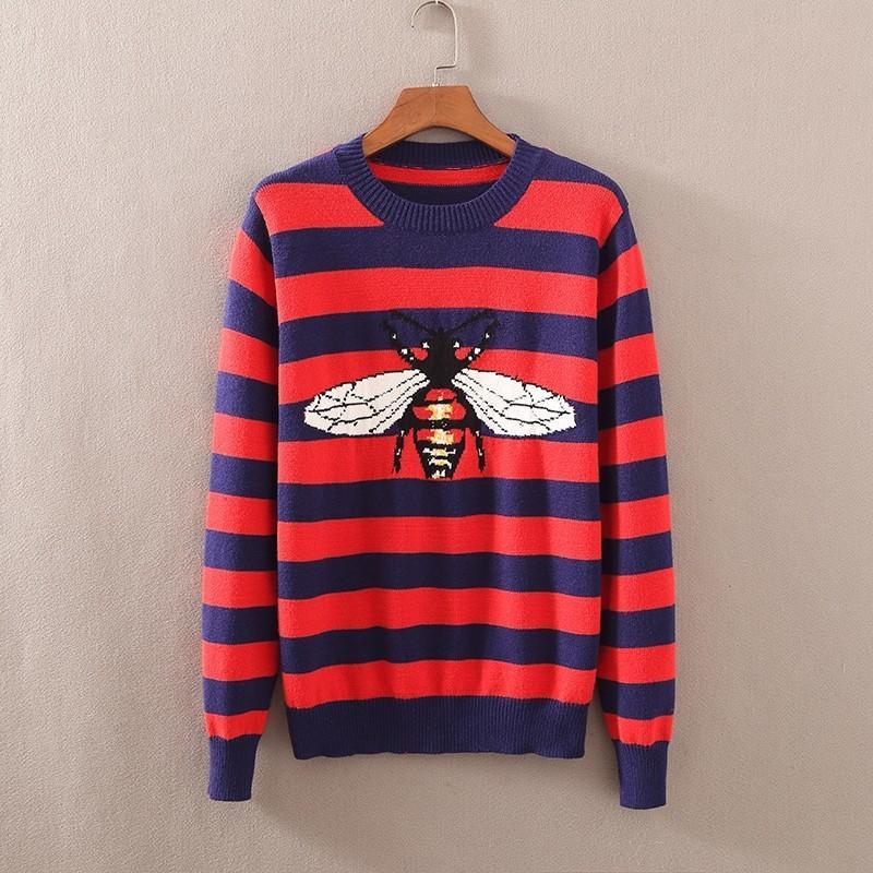 Compre 2019 Diseño De Marca De Lujo Primavera Otoño Suéteres Para Hombres Mangas  Largas Y Jersey Suéteres De Cachemira Exquisito Bordado De Fondo De La ... 203096b1bf3f4
