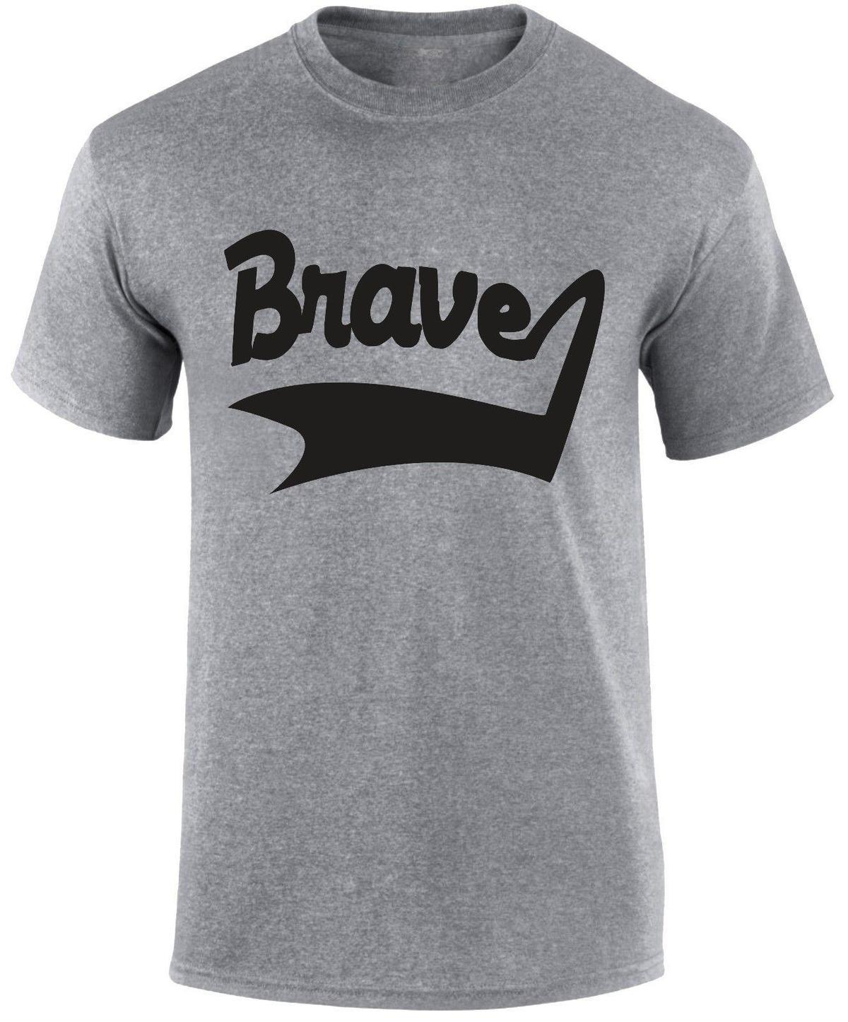 2f5cd6c97a72 Brave Label Motivational Positive Thinking Theraphy Sports Game Gym T Shirt  White T Shirts With Designs Cloth T Shirt From Jie42, $14.67| DHgate.Com