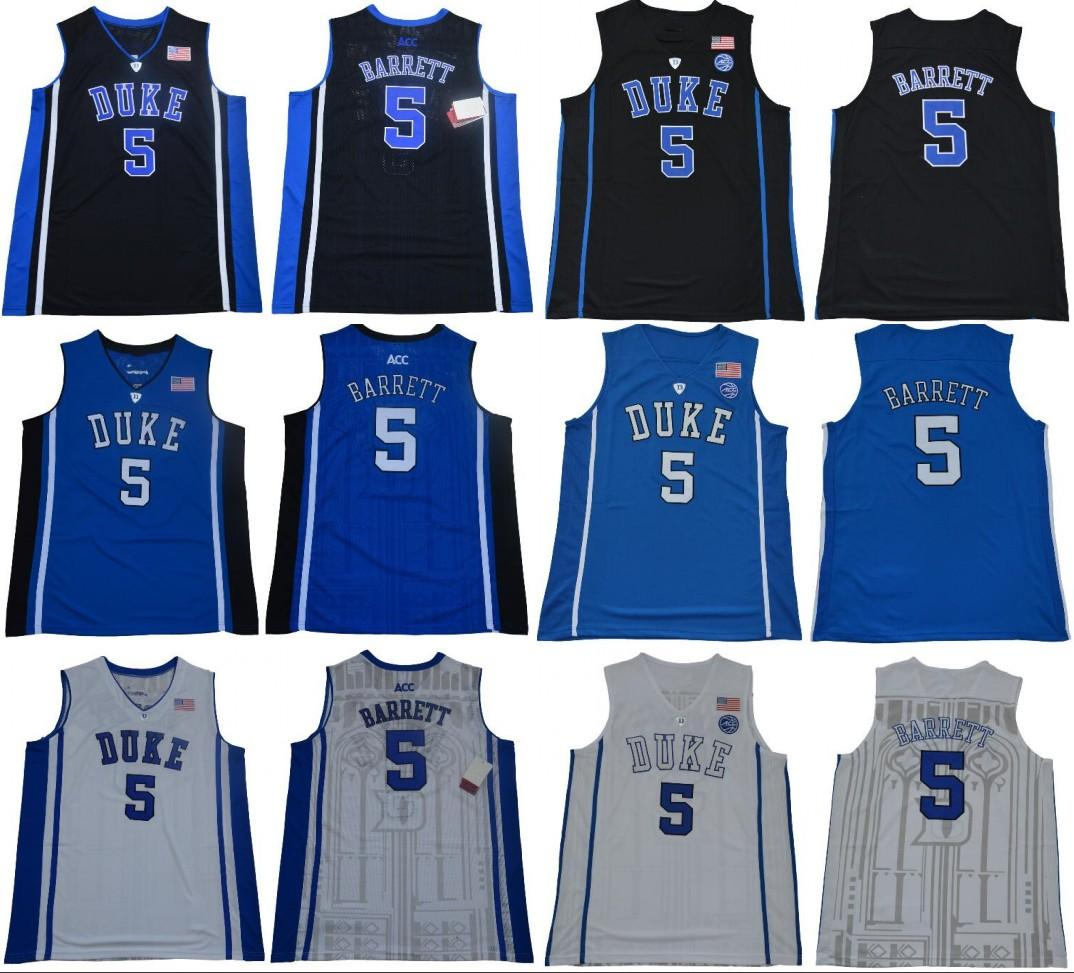 reputable site e6e25 fdb54 Duke Blue Devils 5 RJ Barrett ncaa ACC Jersey Black White blue Men College  Basketball stitched Jersey free shipping