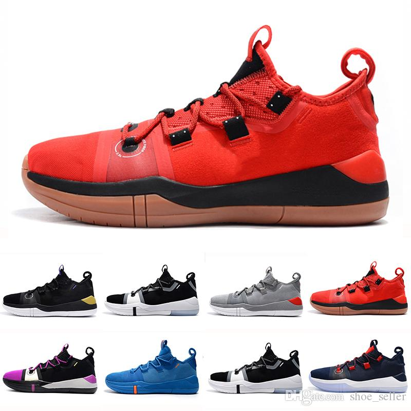 new style 1e49e acd51 Großhandel Kobe AD EP Mamba Tagessegel Multicolor Herren Basketballschuhe  Wolf Grey Orange Für AAA + Qualität Schwarz Weiß Mens Trainers Sports  Sneakers 7 ...