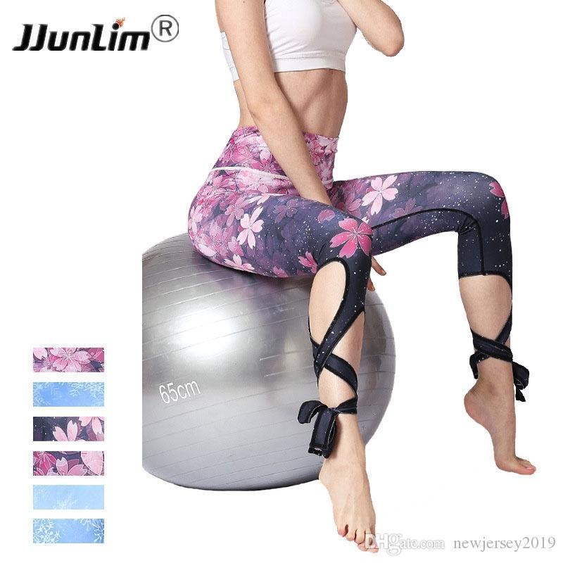 3a5692e4ecd1d 2019 2018 Women Fitness Leggings Flower Printed Yoga Pant Female Sports  Legging Workout Pants Elastic Running Leggings Lady Trousers #256494 From  ...