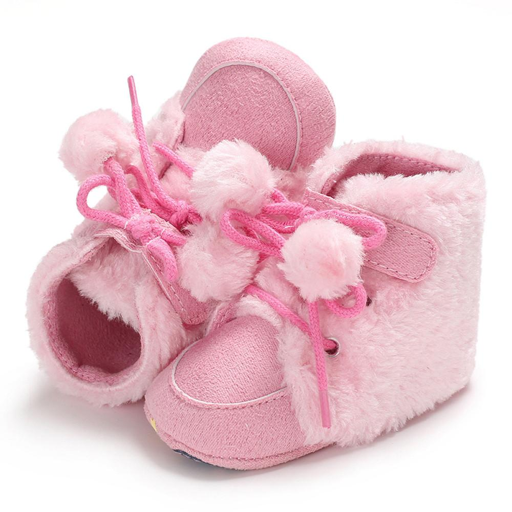 9f117fb606c3a New Trendy Baby Girl Boy Soft Booties Hair Ball Bandage Snow Boots Toddler  Warm Crib Shoes Great Gift To Baby 2018 Winter #2 Girls Size 11 Boots Boot  For ...