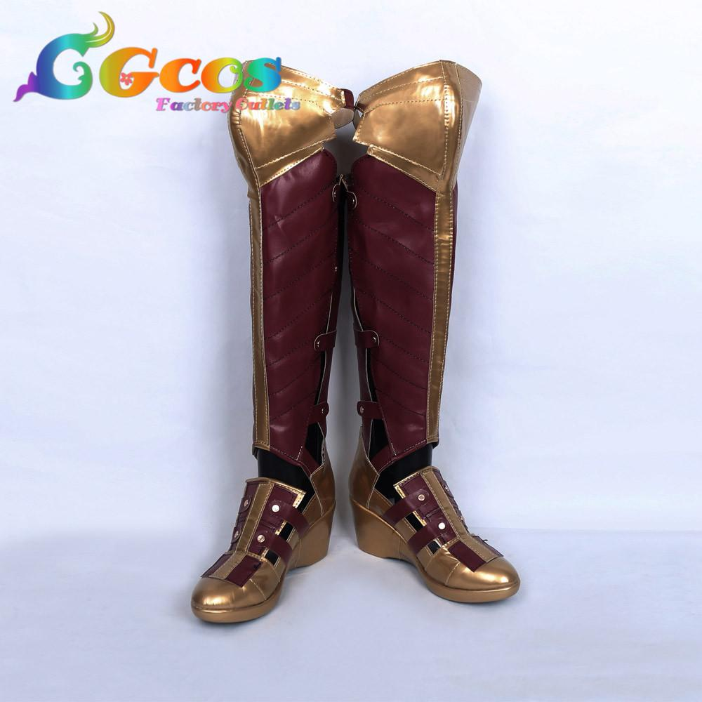 Anime Costumes Free Shipping Cos Cosplay Shoes Wonder Woman Diana Prince Shoes Boots Halloween Christmas Party