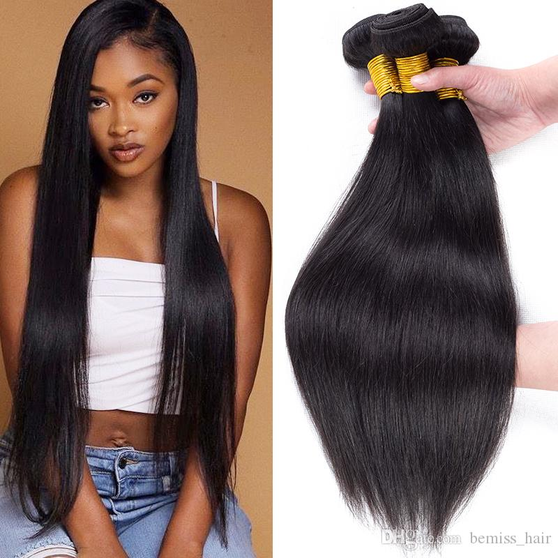 Brazilian Virgin Hair Straight Human Hair Bundles Unprocessed Straight Hair Extensions Cambodian Indian Peruvian Malaysian Mongolian Weaves