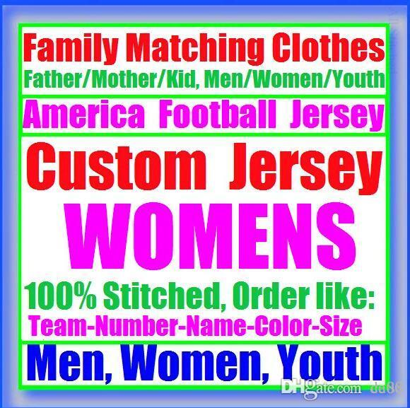 All Stitched Custom american football jerseys Carolina Chicago college authentic cheap baseball basketball mens womens youth USA 4xl real