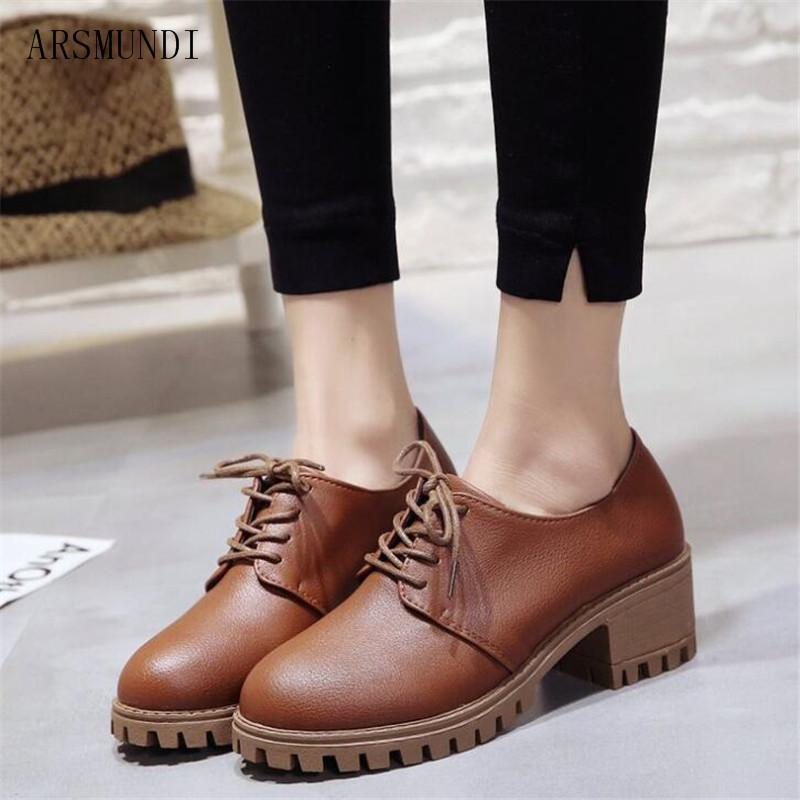 4f00a84e51 Dress Shoes Arsmundi Spring Woman Stylish Comfortable Ladies High Heeled  Casual Wild Woman Single Pumps Oxford Women M141 Mens Sneakers High Heels  From ...