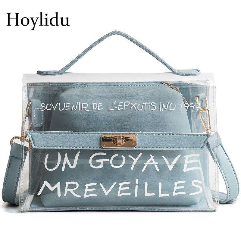 Designer Transparent PVC Clear Bag Luxury Handbags Women Bags Designer  Fashion Jelly Small Tote Summer Beach Lady Shoulder Messenger Bag Name Brand  Purses ... 334e0855176d6