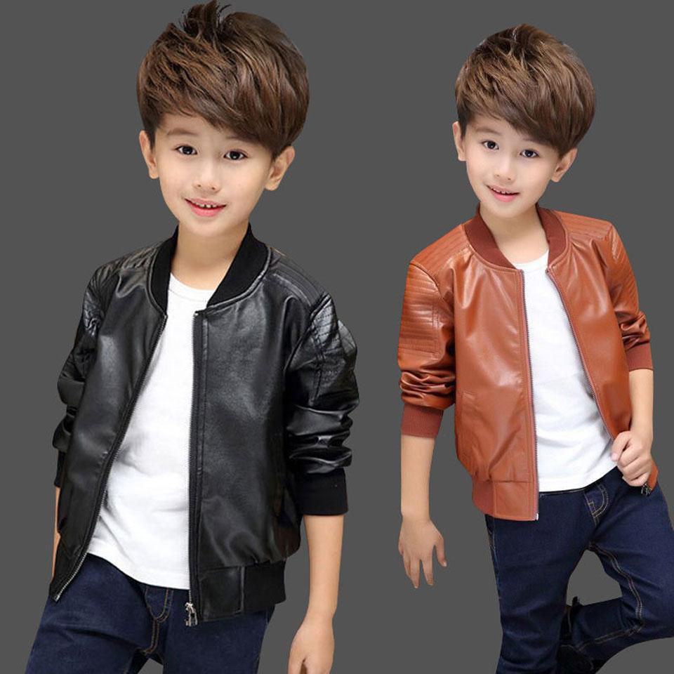 0d5bcfedf Kids PU Leather Spring Jacket Kids Jackets Girls Leather Coat ...