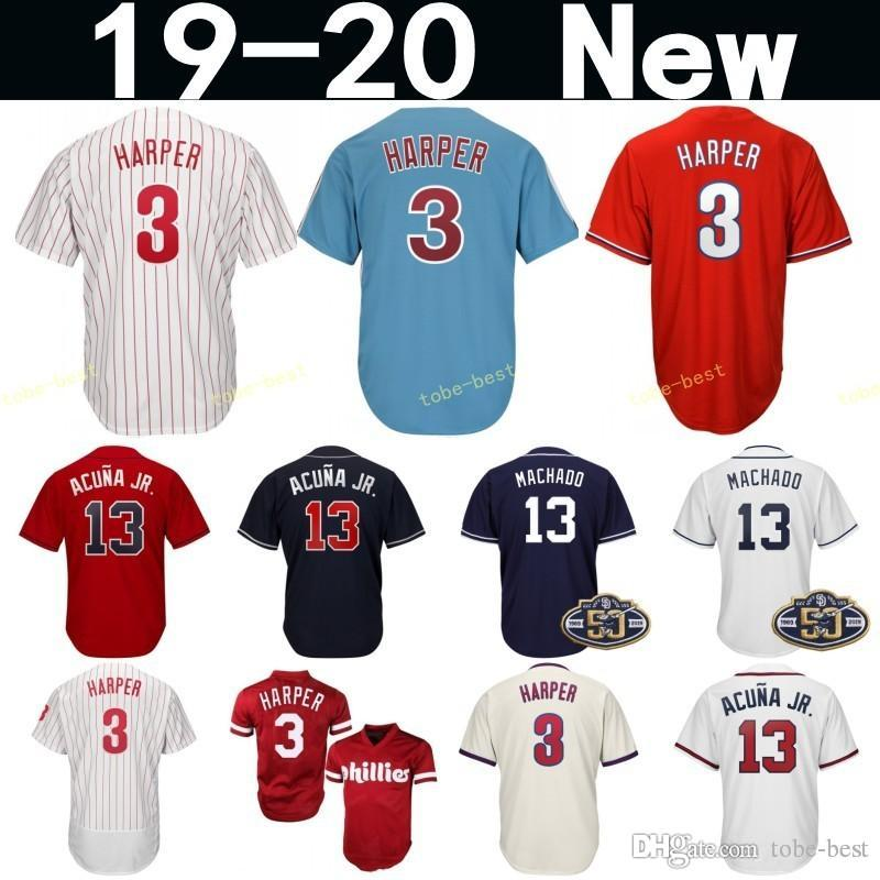 f744080d8 2019 2019 New 3 Bryce Harper Philadelphia Baseball Jersey Phillies 3 Harper  Red White Blue Grey Cream Cool Base Jerseys Men Women Youth Kids From Tobe  Best