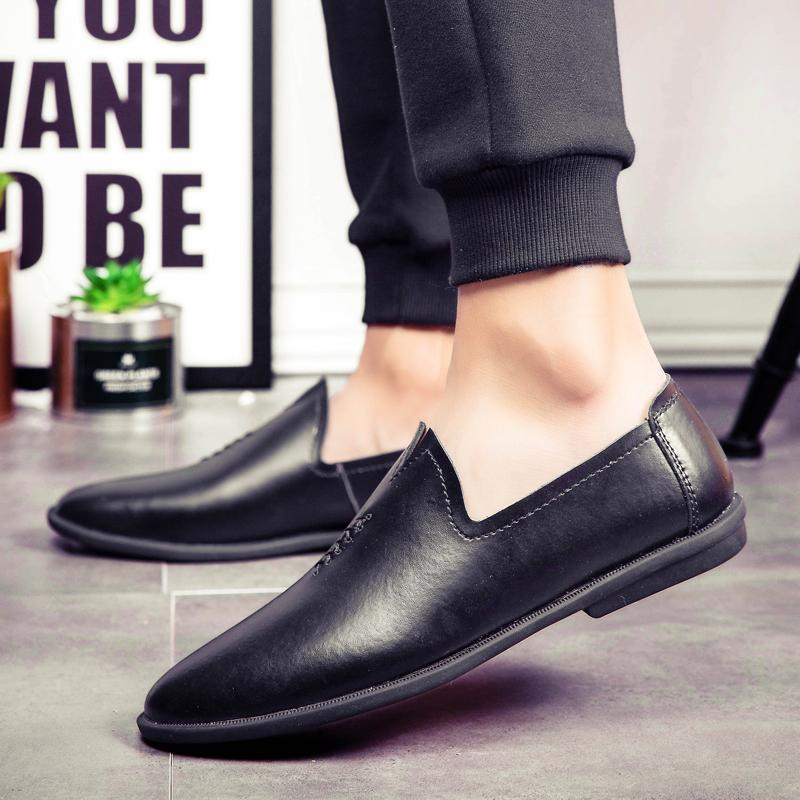 Genuine Leather Men Shoes outdoor Slip on Design Driving Men Flat Footwear Handmade sewing Brand Male Fashion Boat Loafers shoes