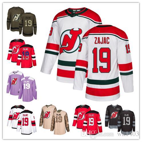 2019 New Jersey Devil Jerseys  19 Travis Zajac Jersey Hockey Men Women  Youth Red Home White Away USA FLAG Premier Alternate Stitched Jerseys From  Wk1403 ed5375bc4
