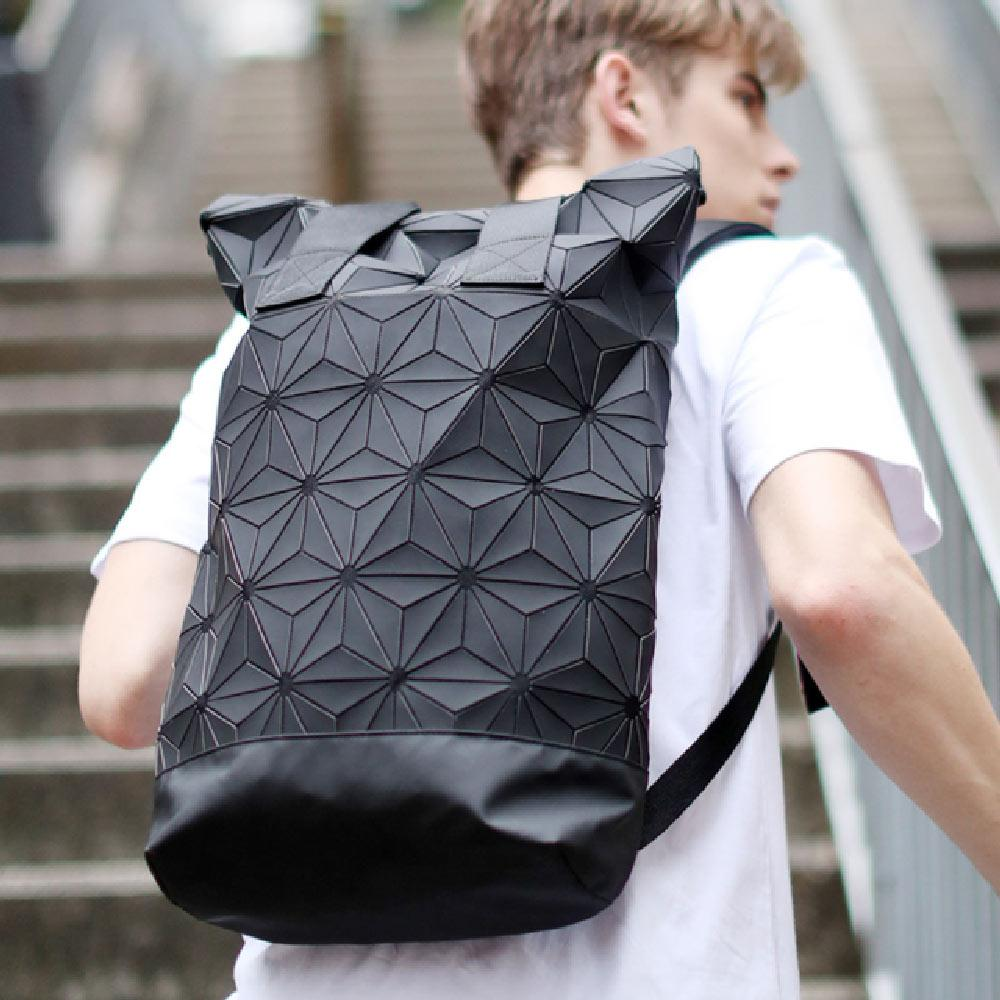 5a4d83001256 2019 new backpack men and women computer bag backpack clover bag 3D diamond  geometry stitching backpack