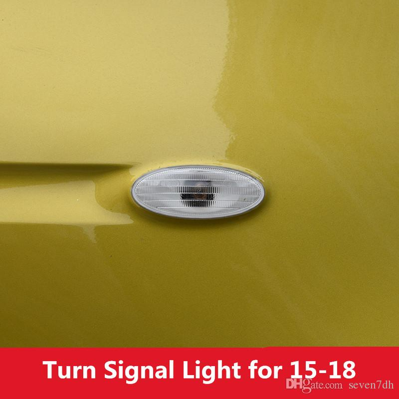 White Car Side Plate Wing Fender Turn Signal Light without Bulb for Smart fortwo forfour 2015 2016 2017 2018