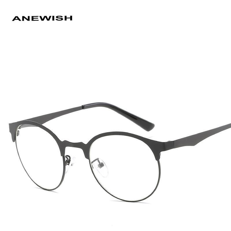 1bfc4483b47 2019 New Ultra-light Metal Frame Female Eyeglasses Optical Men s ...
