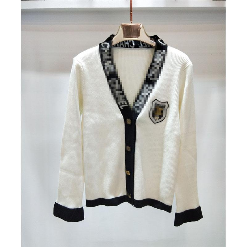 c6e33b47835e8 2019 2019 Women Knitted Jackets Casual Womens Brand Designer Sweaters Jacket  Luxury Small Fragrance Black And White Knit Cardigan Coat From Nivvo, ...