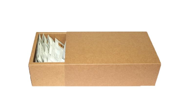 18*10*6cm Large brown kraft drawer boxes, plain brown kraft gift packaging cardboard boxes