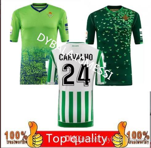 adb258e1ecd 2019 2019 Real Betis Soccer Jersey 18 19 Home JOAQUIN VAN DER VAART  BOUDEBOUZ Soccer Shirt MANDI BARTA TELLO INUI Away 3rd Football Uniform  From ...