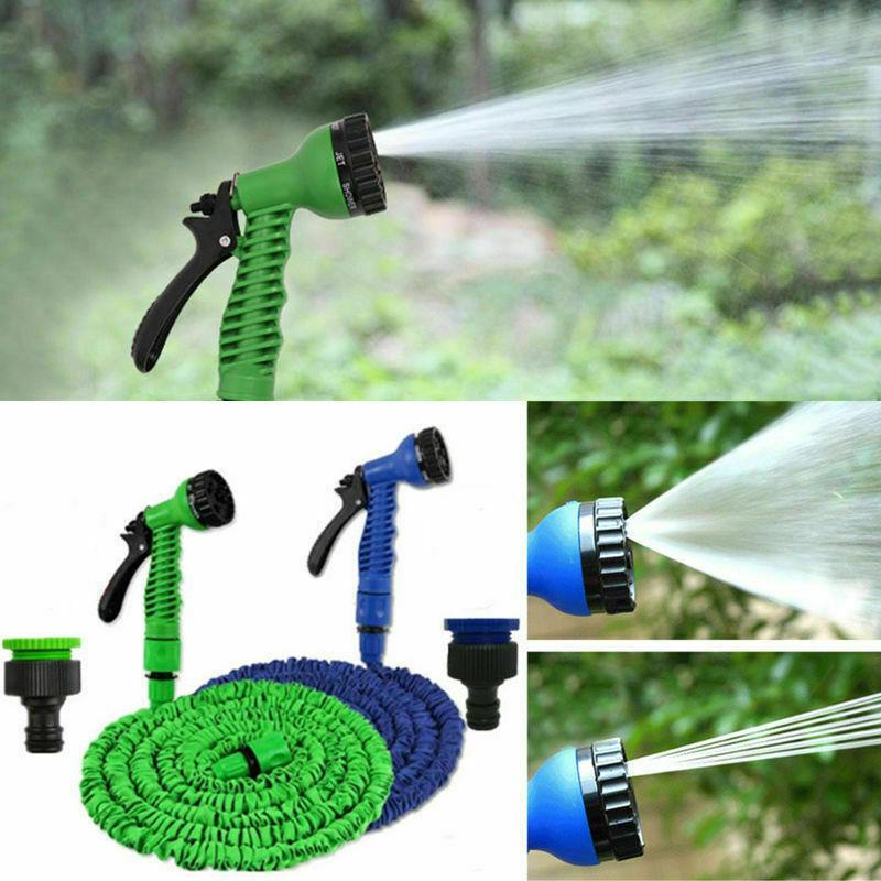New 50ft Expandable Flexible Hose Watering Garden Hose Car Wash Stretched Magic Expandable Garden Supplies Water Hoses Pipe Cleaning Tool