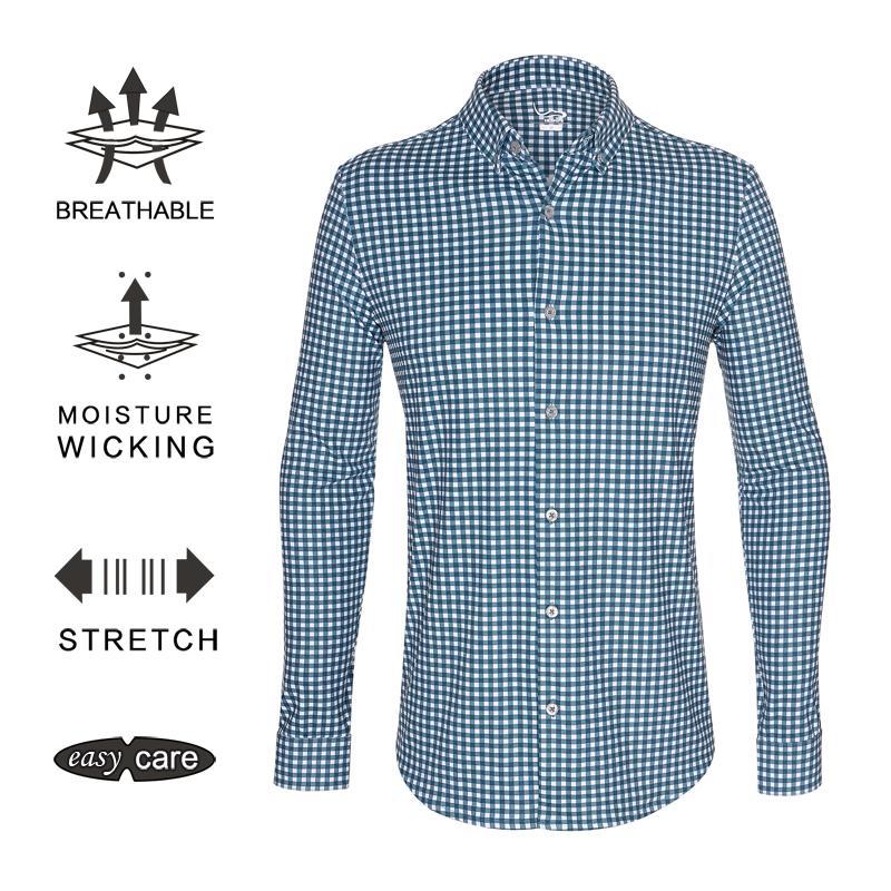 323d81aa7933 EAGEGOF Polyester Autumn Golf Shirt Men s Polo Shirt Male Business ...