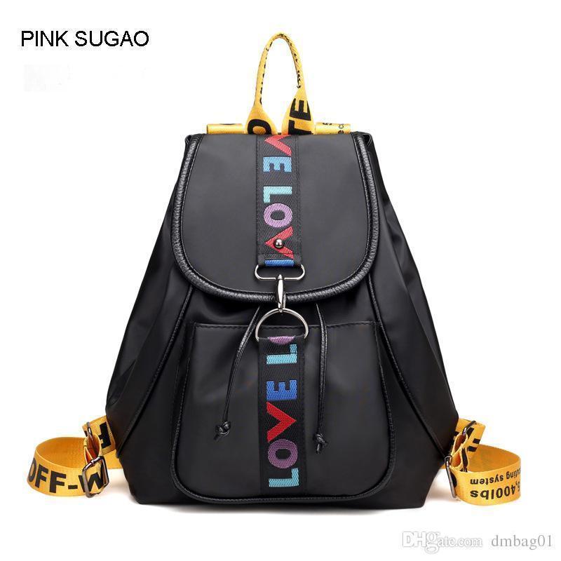 8c503865d8 Pink Sugao Backpack Women Designer Backpacks School Bags Shoulder Backpack  School Bags For Teenage Girls Waterproof Nylon Tote Bag College Backpacks  Girl ...