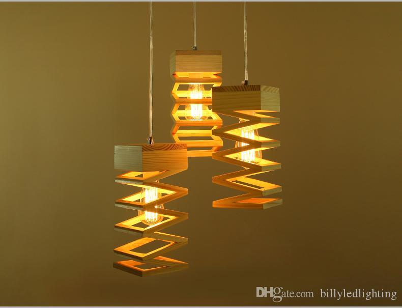 Para De Colgante Madera Pura Lámparas Accesorios Luminaria Lampe El Creativo Colgantes País Lamparas Hogar Lámpara Luces I6b7Ygvfy