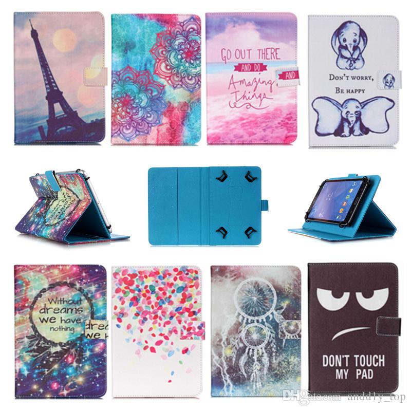 Printed Universal 10 inch Tablet Case for Asus Zenpad Z10 ZT500KL Cases kickstand PU Leather Flip Cover Case for Asus Memo Pad FHD10