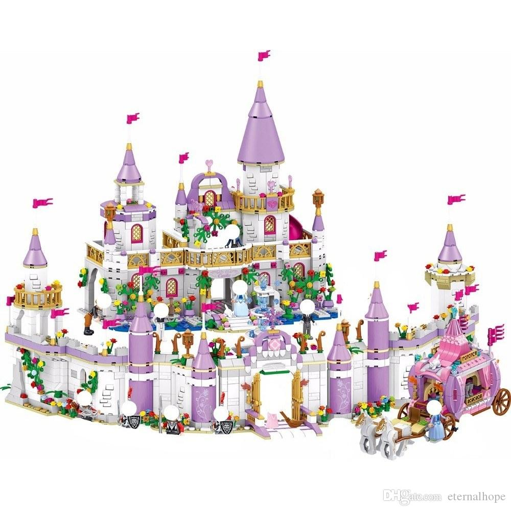 This is a kind of building block toy, cute dolls with beautiful magnificent palace, a wonderful gift for girls. Improve children's manipulat