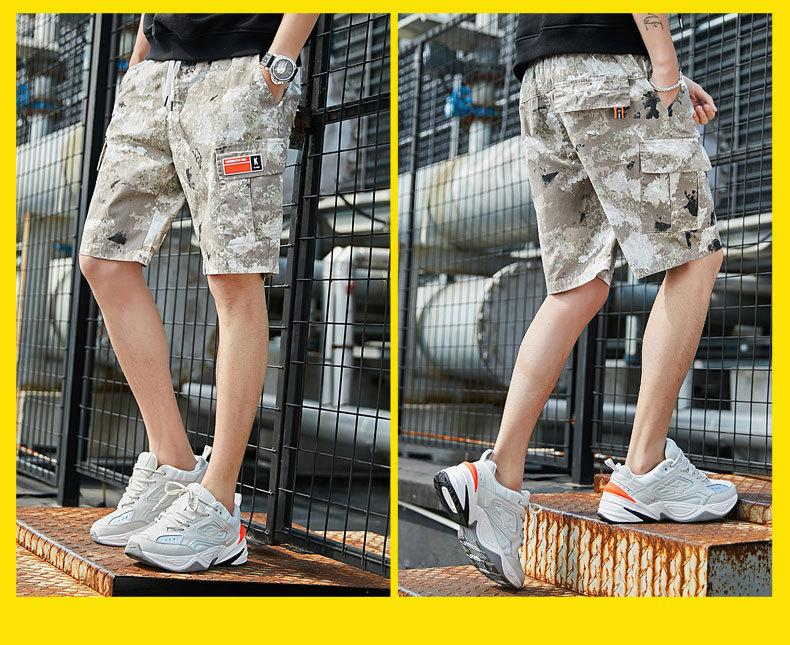 Männer Casual Shorts 2019 Tide Marke Hip Hop Herren Tooling Shorts Knielang mit Paketen Camouflage Lose Herren Casual Relaxed Sho