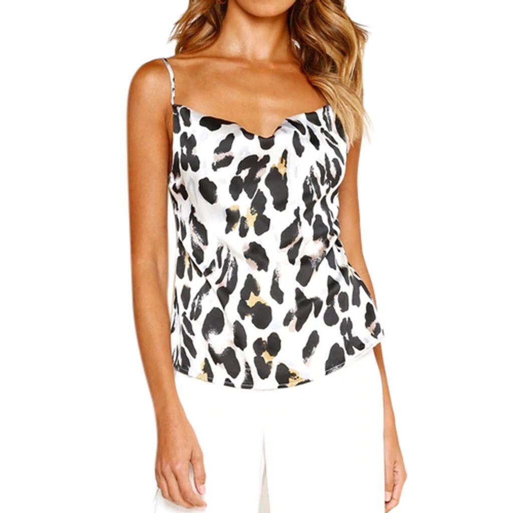 2eed039cb872e 2019 ISHOWTIENDA Women Sexy Tank Top Summer Leopard Print Shirts Casual  Sleeveless Vest Camis Female Camisole Women Tank Tops Shirt From Cravat