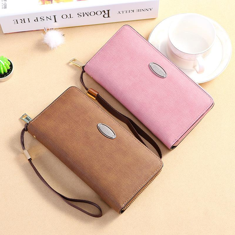 4ca4275be OTHERCHIC Large Capacity Fashion Long Wallet Women Solid Color ...