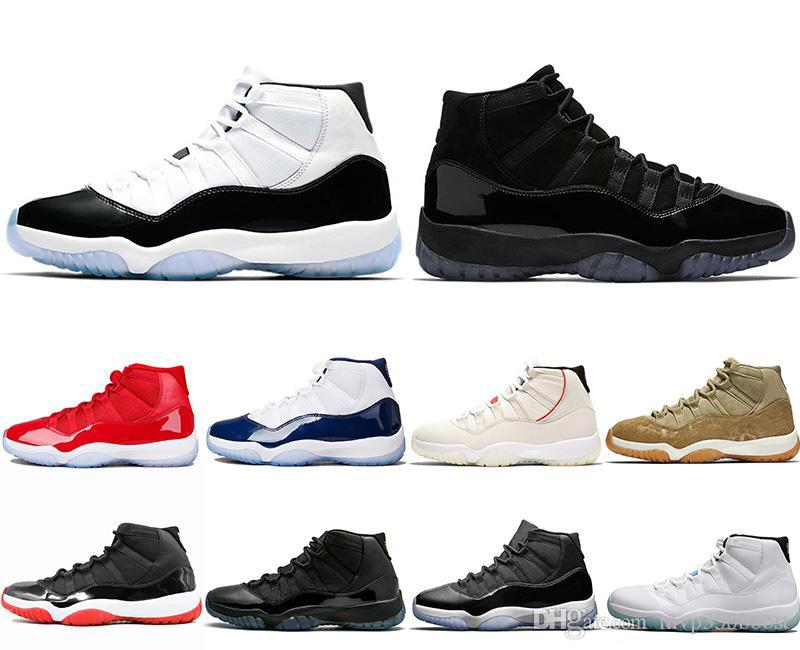 fe139abdcbe356 Concord 11 Bred 11s Mens Wholesale Basketball Shoes 11s Platinum Tint Space  Jam Gamma Blue Men Women Sports Sneakers Basketball Shoes Online Wholesale  ...
