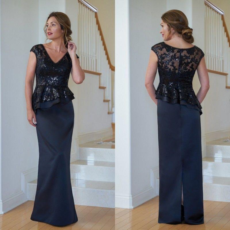 2019 Jasmine Mother Of The Bride Dresses V Neck Lace Sequins Elegant Evening  Gowns Formal Wedding Guest Mother S Dresses Vestidos De Novia Mother Of The  ... 1a43c5a695c7