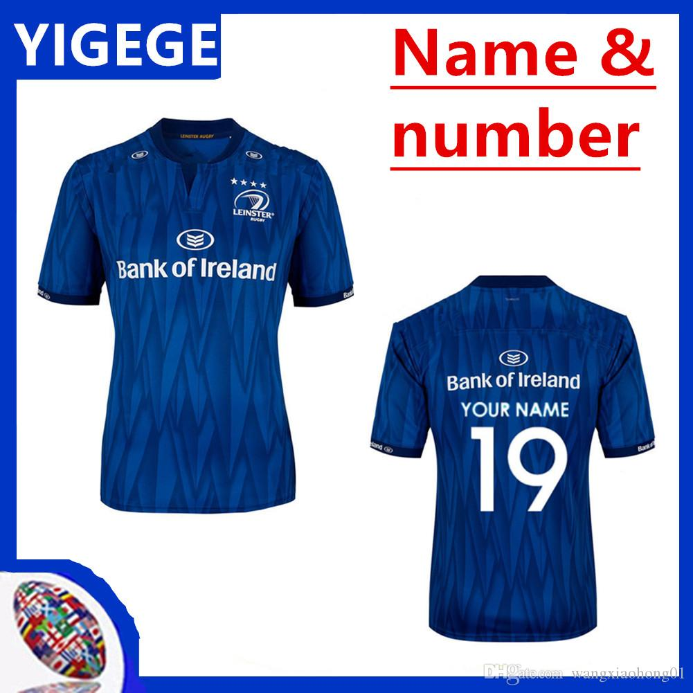 finest selection 508ed f57b0 LEINSTER HOME JERSEY 2018 2019 LEINSTER rugby Jerseys Ireland Rugby Ireland  IRFU 2018/19 Home Rugby Shirt size S-3XL (can print)