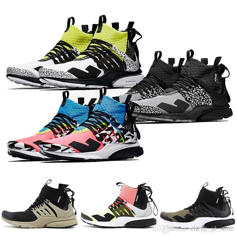 new concept 07378 125fe Acheter Acronyme X Presto Mi Chaussures De Course Hommes Formateurs Femmes  Designer Sport Baskets Hot Lava Dynamique Jaune Racer Rose Cool Gray 36 45  De ...