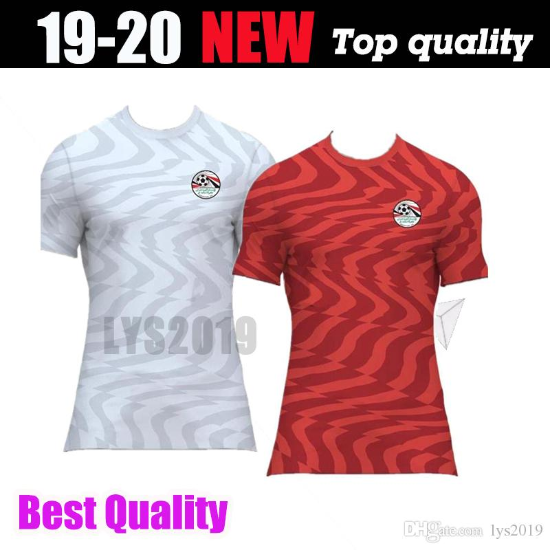 sale retailer ce6b4 02bc4 2019 2020 Egypt soccer jersey M. SALAH world cup Home Red away white 19 20  KAHRABA A. HEGAZI RAMADAN uniforms jerseys footbal shirts
