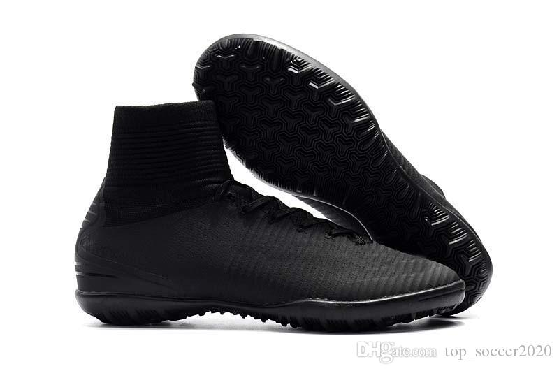 bf77cfc7389 2019 Sale 2017 2019 All Black Soccer Cleats TF IC FG Ronaldo CR7 Football  Boots Mens Women Kids Soccer Shoes Sneakers From Top soccer2020
