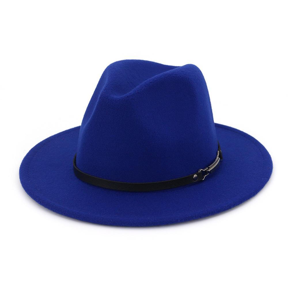 bc63bc3d6b620 Women Wool Hollow Western Cowboy Hat Roll Up Wide Brim Cowgirl Jazz ...