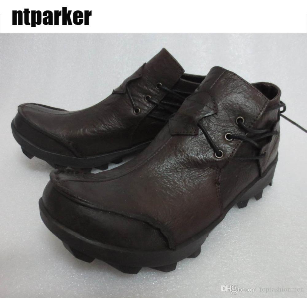 fc74c4e97c36 Western Cowboy Man S Boots Cowhide Genuine Leather Boots Low Top Shoes Man  Zapatos De Hombre Safety Shoes