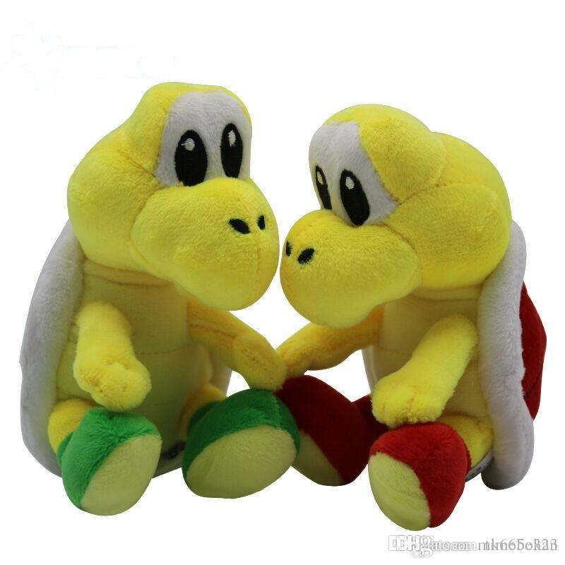 Super Mario Plush Toys Koopa Troopas Red Green Turtle Tortoise 15cm Kids Soft Stuffed Toy Cartoon Game Dolls Toys for Children