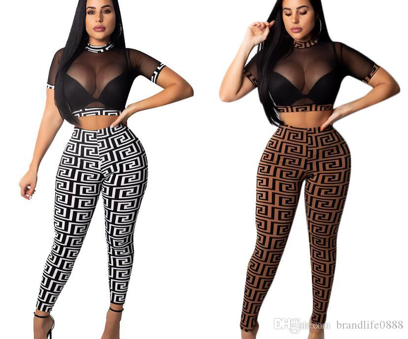 Tracksuit Women 2 Piece Yoga Set Trends Style Fashion Print Fashion Bra Long Pants Sportsuite For Women Fitness Sport Suit Women Sportswear