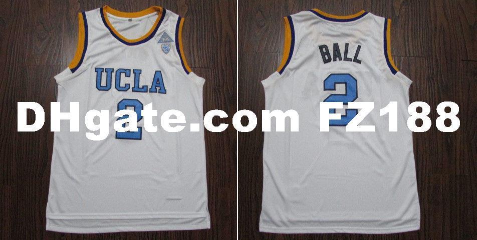 870c49442e8 2019 UCLA Lonzo Ball #2 College Basketball Stitched Jersey Size XS 6XL White  From Diyjerseys, $23.43 | DHgate.Com