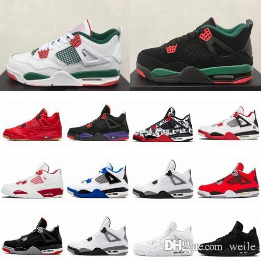 8d34c3106ce 2019 4 NRG White Pizzeria 4s Black Pizzeria Men Basketball Shoes Tattoo  CACTUS JACK Travis Scotts X Bred Sports Sneaker With Box Size 8 13 From  Weile, ...