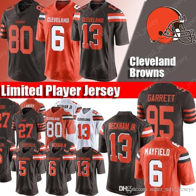 new photos 5a7ec 816d0 Cleveland Jersey Browns 13 Odell Beckham Jr Jersey 6 Baker Mayfield Jerseys  95 Myles Garrett Jersey 24 Nick Chubb Greedy Williams Taylor