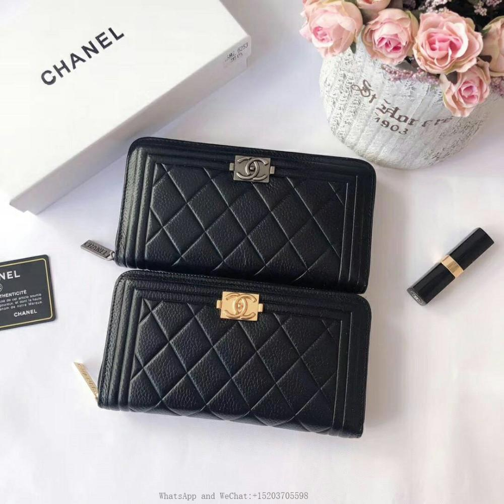 588835cd2be538 Leather Women Wallet Female Long Clutch Lady Portomonee Rfid Brand Men Money  Bag Zipper Coin Purse With Box Girls Purses And Wallets Small Handbags For  ...