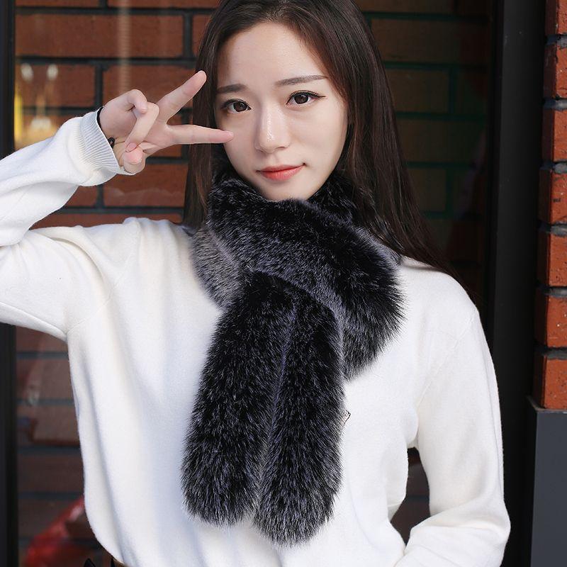 Real Fox Fur Scarf Winter Warm Collar Bib Fur Scarf Female Apparel Accessories