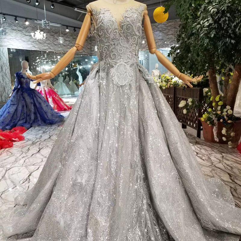 aea19341f7 Grey Ladies Evening Dresses Long O Neck Sleeveless A-Line Women Occasion  Dress Simple Elegant Mother Of Prom Dress 2019 Newest Design Dubai