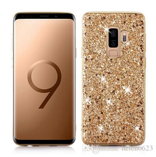 san francisco 49123 ce4f9 Best Case for Samsung Galaxy S8 S9 Plus Note 8 9 Case A6 2018 Silicon Bling  Glitter Crystal Sequins Soft TPU Cover for Huawei P20 Pro Lite