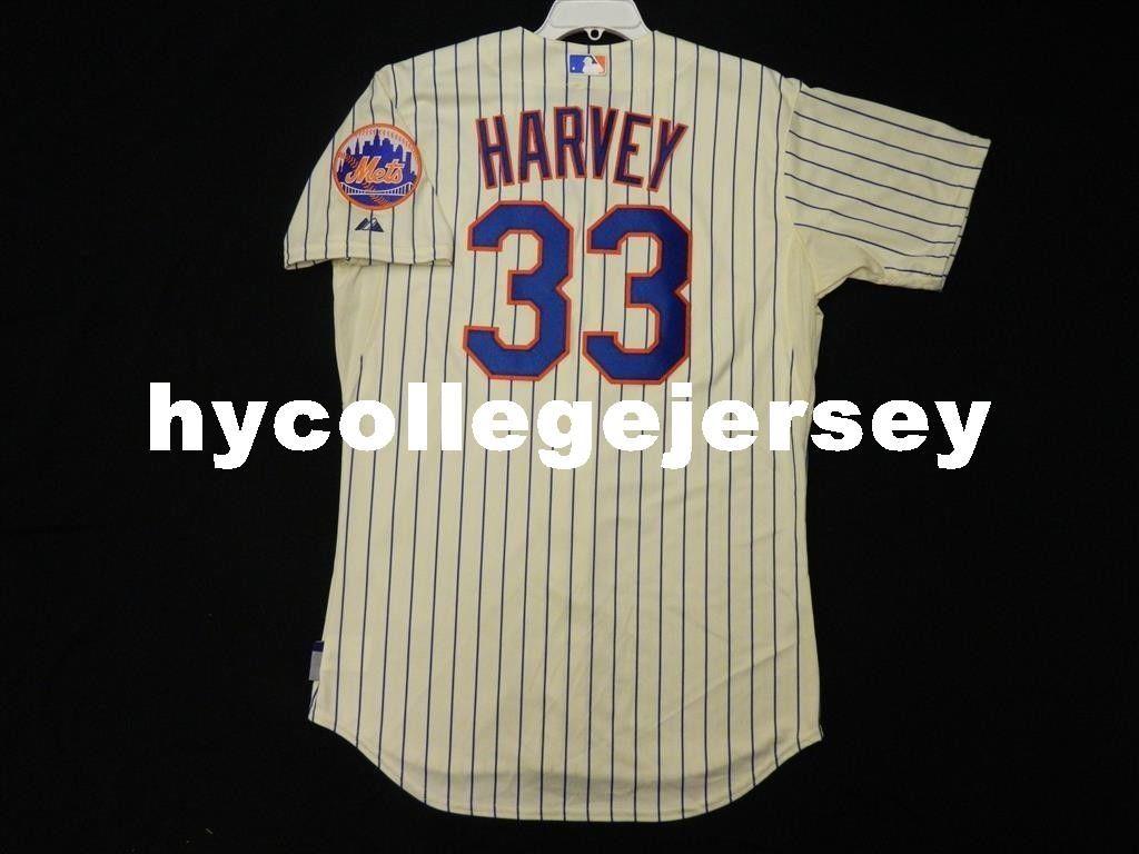 2a1627a5c Cheap Top NEW YORK #33 MATT HARVEY COOL BASE Jersey Mens Stitched ...